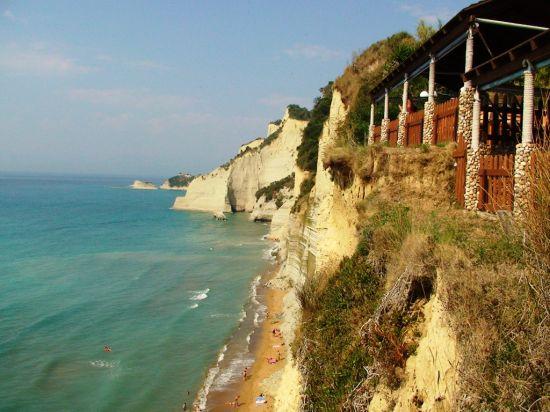 Kliffen bij Peroulades Corfu